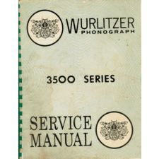 Wurlitzer 3500 series phonograph service manual