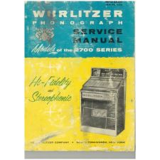 Wurlitzer 2700 series phonograph service manual
