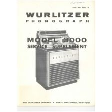 Wurlitzer 3000 series phonograph service supplement