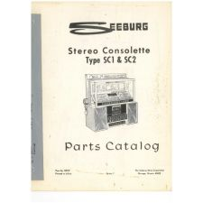 Seeburg stereo consolette SC1 & SC2 parts catalog
