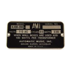 AMI typeplaatje model Continental 2 200 select