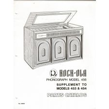 Rock–ola model 456 & suplement to 453 & 454 parts catalog