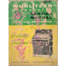 Wurlitzer 2800 series phonograph service manual