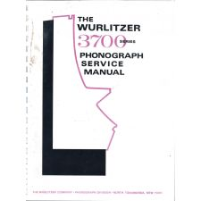 Wurlitzer 3700 series phonograph service manual